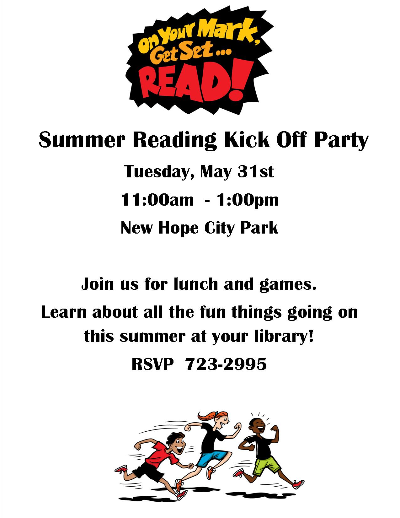 Poster for Kick Off Party Summer Reading 2016